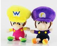 "2pcs Wario Waluigi Baby 5.5"" Super Mario Bros. Plush Doll Figure Toys Gifts"