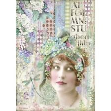 Stamperia Rice Paper HORTENSIA - LADY A4 Sheet DFSA4467 Decoupage/Journal