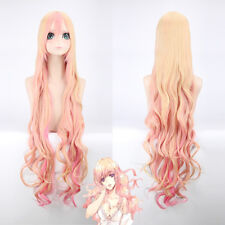 120cm Macross F Sheryl Nome Pink Blonde Mix Cosplay Anime Costume party Hair Wig