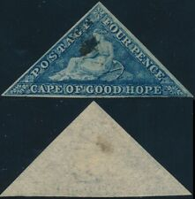 CAPE OF GOOD HOPE, 4 p VALUE, Watermark ANCHOR, TRIANGULAR USED STAMP.  #A145