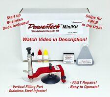 PowerTech MiniKit Auto Glass Windshield Windscreen Rock Chip Resin Repair Kit