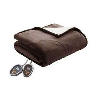 Woolrich Heated Plush to Berber Electric Blanket Throw Ultra Soft Knitted  Su...