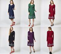Joe Browns 5 Colour Choices Signature Long Sleeve Floral Print Detail Joe Dress