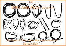 W113 COMPLETE SEAL KIT -17 pieces - DOOR/TOP/TRUNK/PILLARS - 65-71 230SL 280SL