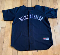 Arizona Diamonbacks Vintage NIKE Baseball Jersey Youth L Womens S EUC RARE