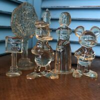 Vintage Walt Disney Productions 1975 Mattel Little Treasures Acrylic Figurines