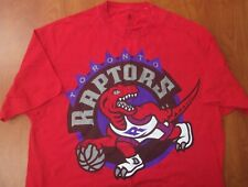 Adidas NBA Toronto Raptors Basketball Throwback Big Logo Authentic T-Shirt XL