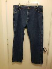 Wrangler Men's Denim Blue Jeans Med Dark Wash Size 38X30 100% Cotton EUC B180400