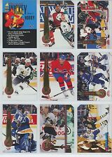 1994-95 PINNACLE HOCKEY PROMO CARD PACK - 10 DIFFERENT NM/M