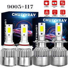 4Pcs 9005+H7 LED Headlight Kit High/Low Beam Bulbs For 2010-2014 OUTBACK/LEGACY