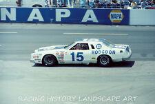 1979 8X10 PHOTO CHARLOTTE WORLD 600 #15 BOBBY ALLISON HODGDON FORD NASCAR RACING