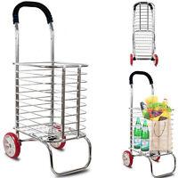 Einkaufstrolley Einkaufswagen Stabil Trolley Einkaufsroller klappbar Stahl Optik