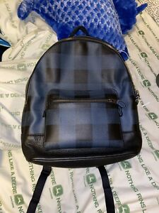 coach mens leather backpack