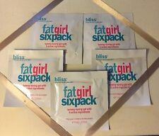 Bliss Fat Girl SixPack Tummy Toning Gel, NEW!  5 Sample Packs, 0.23 oz. each