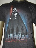 Men's M-XXL Black Speckled Star Wars The Force Awakens Darth Vader Shirt Disney