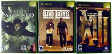 Lot of 3, thirteen XIII, The Matrix Path of Neo, Bad Boys Miami, Xbox Games
