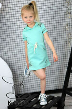 Girls Hooded Dress Mint Blue Jets Sizes: 5/6