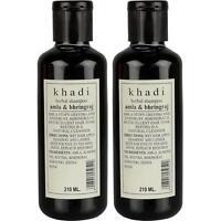 1 x Khadi Herbal Amla and Bhringraj Shampoo SLS & Paraben Free 210ml Hair Growth