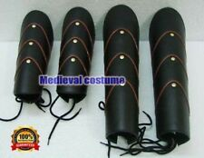 Medieval Leather Archery Leg & Arm Guards Set Greek Armor Vambrace Larp Bracer