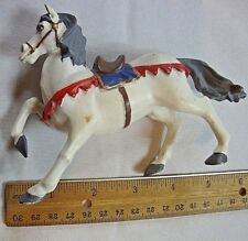 Papo Medieval Knights War Horse White Collectible Action Figure Figurine 5""