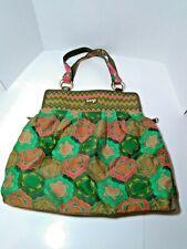 LOOP NYC Boho Hippie Floral Theme Bag green purse