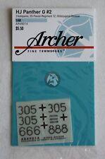Archer 1/48 Panther Ausf.G Markings (No.2) 3. Kompanie 12. SS-Pz.Div. HJ AR49014
