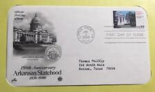 FDC Stamp Arkansas Statehood 3Jan1986 Little Rock AR #28
