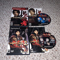 Onimusha 1 & 2: Samurai's Destiny Sony PlayStation 2 PS2 Lot Bundle
