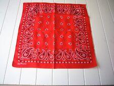 Vintage Bandana Elephant Trunk Up 100% Cotton Fast Color Hanky Handkerchief Red