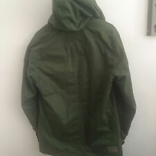 Hooded Button Long Military Coats & Jackets for Men