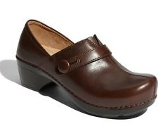 DANSKO SHOES SOLSTICE CLOGS CHOCOLATE BROWN LEATHER 39 9815450200 $150