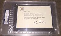 President GEORGE HW BUSH Signed Letter Concerning MLB Baseball HOF Game PSA/DNA
