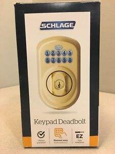 Schlage BE365VPLY505 Bright Brass Steel Electronic Deadbolt