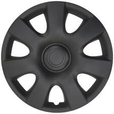 "Toyota Camry Style Hub Caps Wheel Covers for 15"" Rims Matte Black Finish (4pc)"