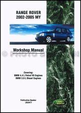 Range Rover Shop Manual 2002 2003 2004 2005 Land Rover Repair Service Workshop