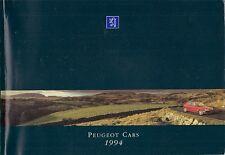 Peugeot 106 205 306 405 605 1994 UK Market Sales Brochure