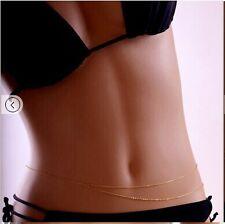 Body Chain Golden Beach Belly Necklace body chain sexy bikini waist chain b24
