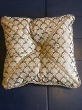 "NEW CROSCILL 15"" SQUARE Brown & Gold Decorative Pillow"