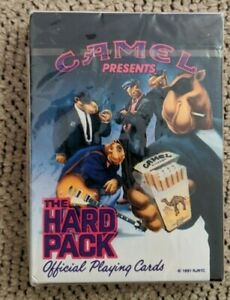 Camel Hard Pack Playing Cards, New in Sealed Wrapper, U.S. Playing Card Co. 1991