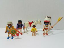 Playmobil 3250 Western Indians Horse Replacement Pieces Figures Parts Vtg