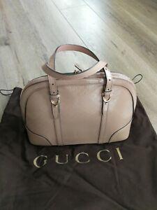 Gucci Nice Microguccissima Patent Leather Top Handle Bag Light Pink Medium