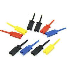 Multi-color Mini Portable Hook Useful Test Clip 10pcs Probe Cable Welding New