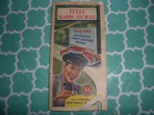 Sinclair H-C Gasoline Map (1940) Texas-Oklahoma-New Mexico