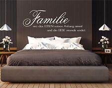 Wandtattoo - Familie - wo das Leben seinen Anfang nimmt... Aufkleber  Sticker