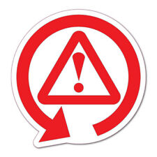 WARNING ROUND ARROW Sticker Decal Car Drift Turbo Euro Fast Vinyl #0877