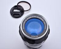 Nikon NIKKOR-Q Auto 135mm f/3.5 Telephoto Lens Filter Caps Ai'd Japan (#4156)
