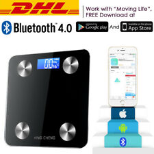 180KG Personenwage Bluetooth APP Körperwaage Badwaage Fitnesswaage BMI Analyse