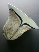 Vintage ART GLASS LAMP SHADE Signed: Grant - Pulled Feather Glass -No Damage!