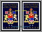 2x CANADA 1987 CANADIAN CHARTER OF RIGHT MINT FV FACE 72 CENT MNH PAIR STAMP LOT