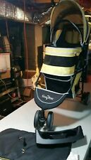 Gen7Pets Regal Stroller Jogger Cats + Dogs 25lb Yellow Cup Holders Safety Tether
